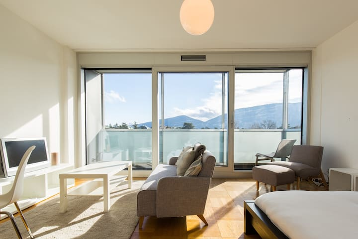 Cosy Studio at 7th Floor in Residential building! - Genève - Apartment