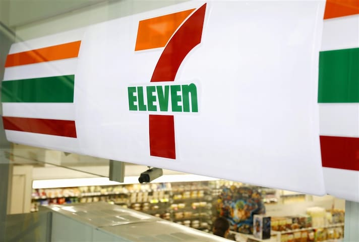 7-11 on the first floor of the building so extremely convenient