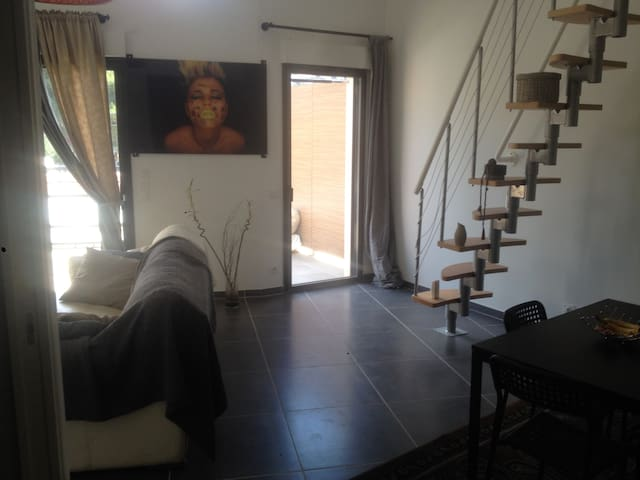 T2 duplex bormes les mimosas a 2km des plages - Bormes-les-Mimosas - Apartamento