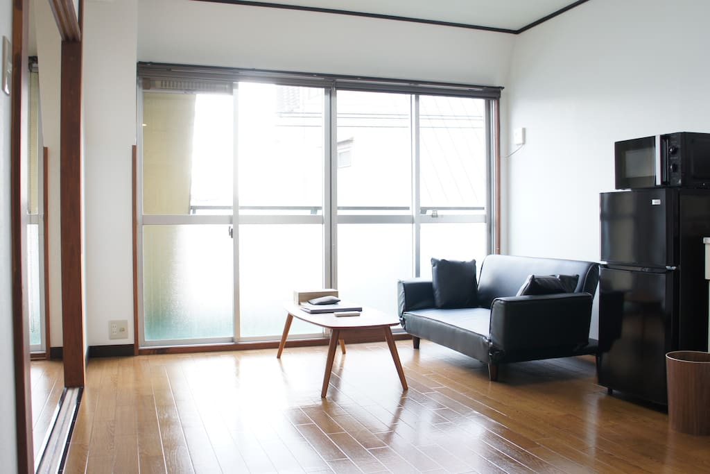 Spacious living room with nice view