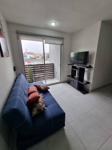 Sala de estar, Es un sofá cama.