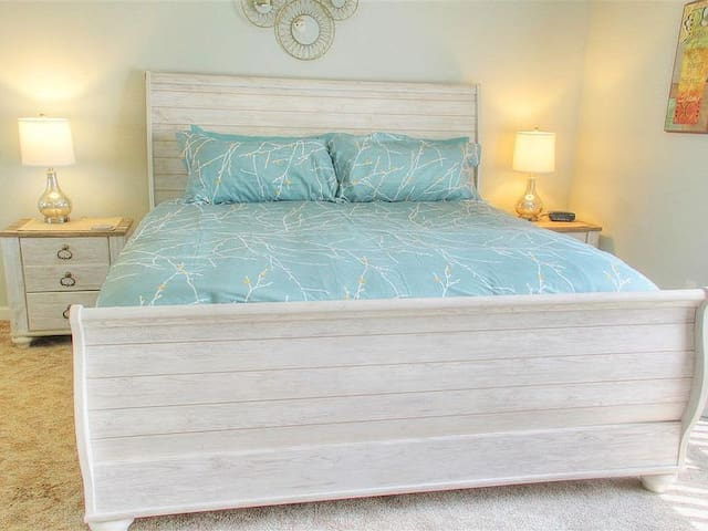 HUGE king bed in master suite