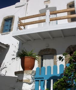 Traditional House panoramic terrace - Tilos - House
