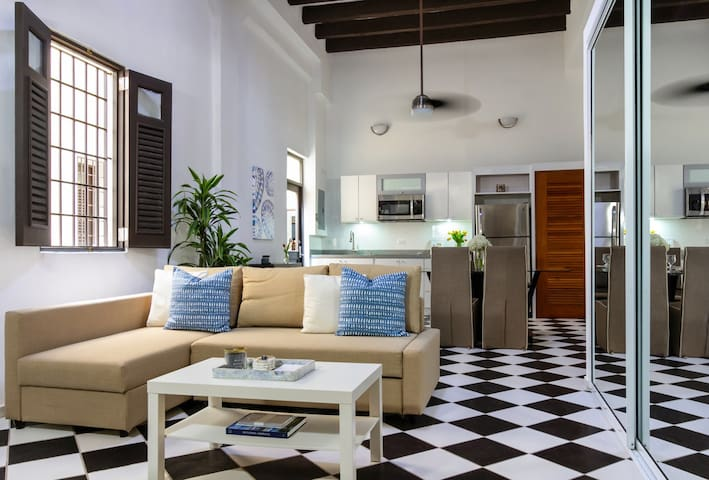 Mezzanine Suite | Loft style 1 Bedroom in best location in Old San Juan with Plaza View