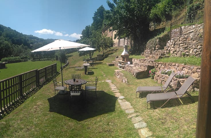Casona Angliru, primero con Jardín y barbacoa!