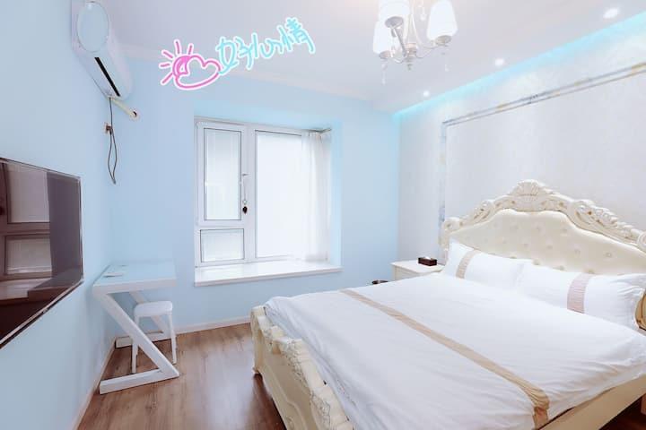定TA定TA~网红轻奢欧式风/冰点价/高品质地铁山景房/浪漫欧式大床房/拎包入住/长租