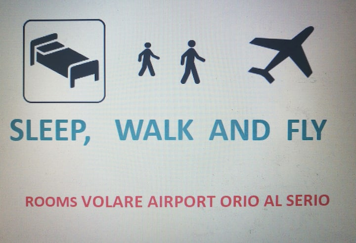 SLEEP WALK & FLY Bergamo airport SELF CHECK-IN BGY