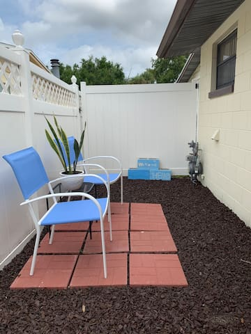 Completely separate to provide you a little outside area comfort!