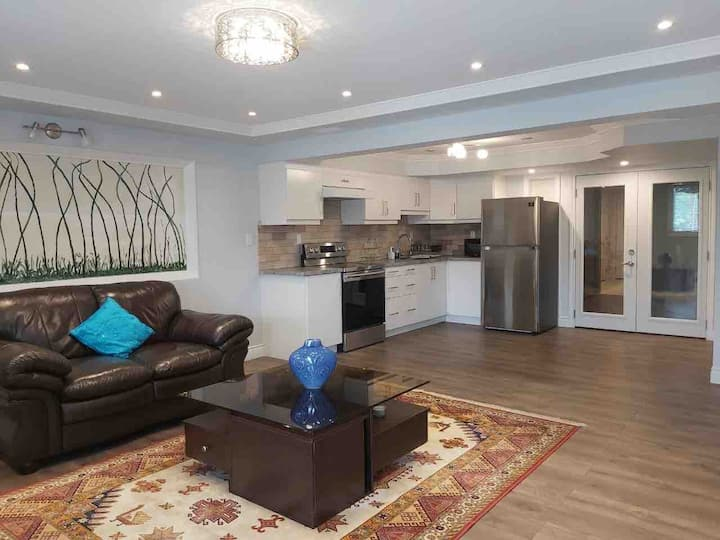Beautifully renovated walkout 1 bdr bsmt apartment