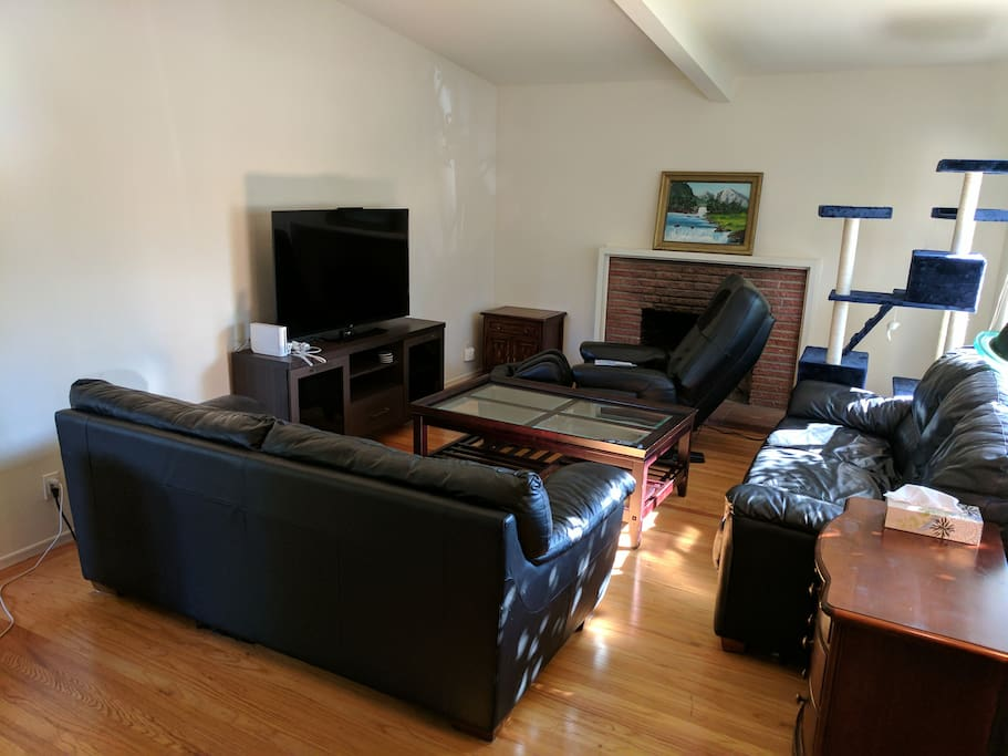 Living room w/ massage chair & Nintendo Wii
