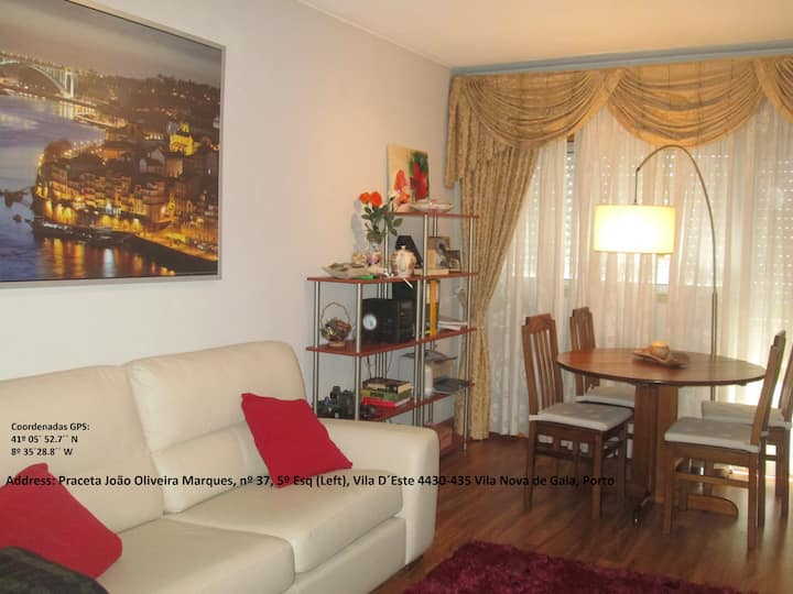 Oporto and Douro 5 minutes - Apartment with Wifi