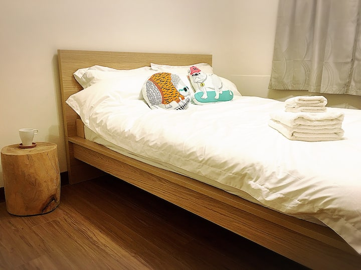 Cosy Apt/ 3 Mins to MTR- Wanfang Hospital Station