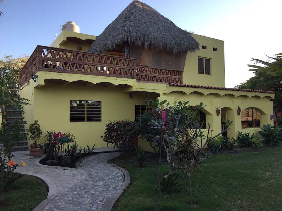 This is Casa Bella, Palapa Bella Apartment is upstairs on the second level