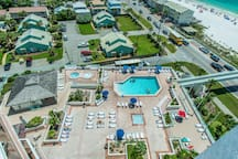 Surfside pool hot tubs and beach