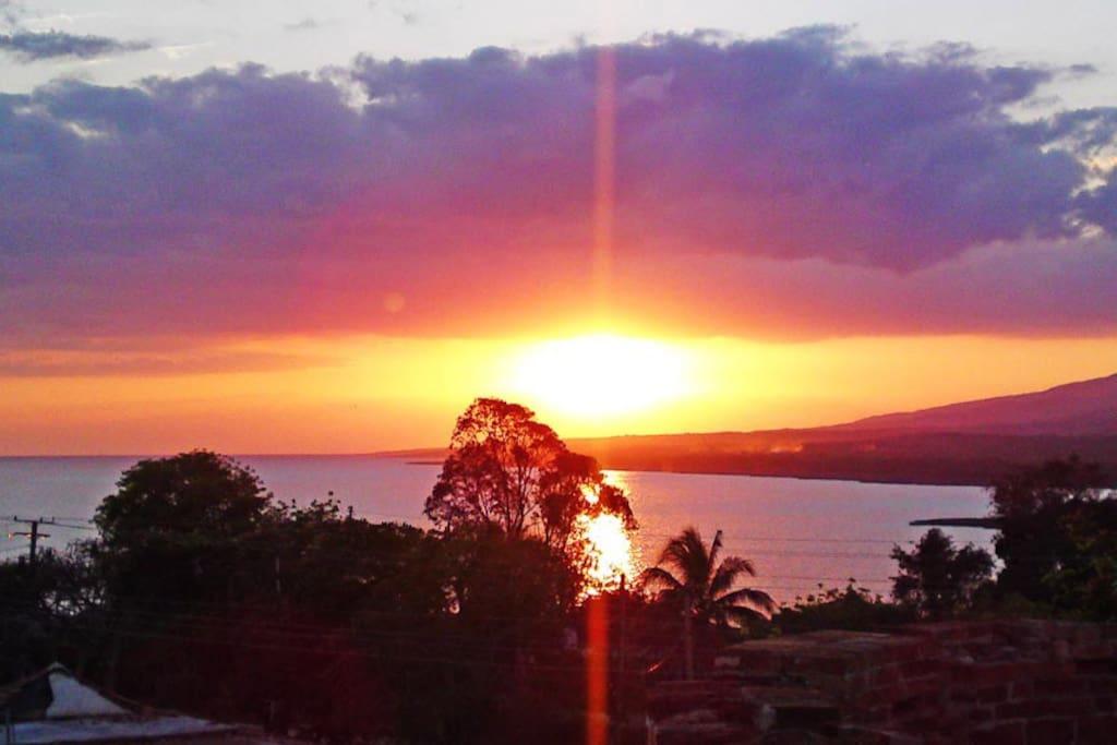Puesta de sol vista desde la terraza