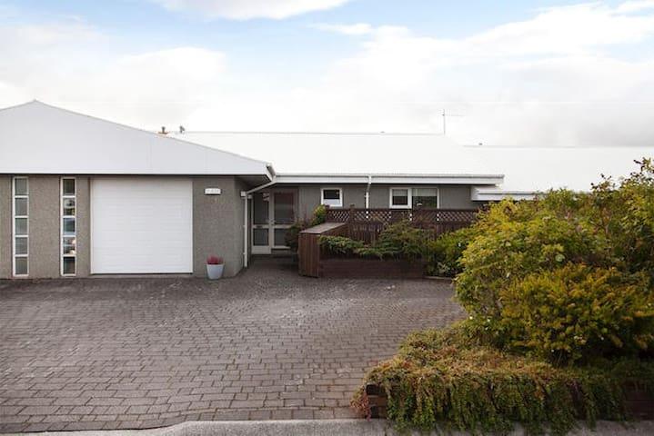 Family friendly, modern, bright, Icelandic home
