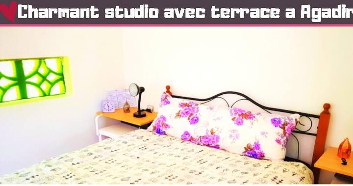❤ Studio style loft avec terrasse a Agadir