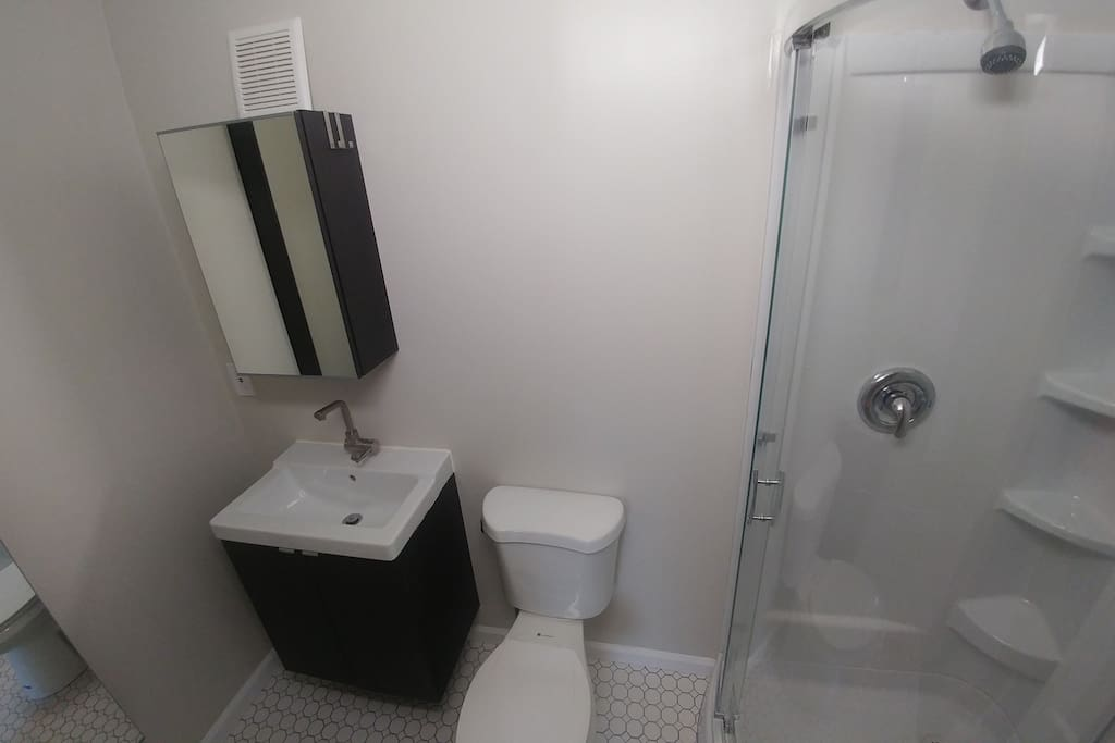 Private updated bathroom