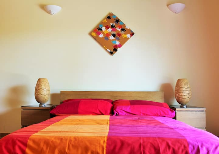 Double bed in The Other Guest House