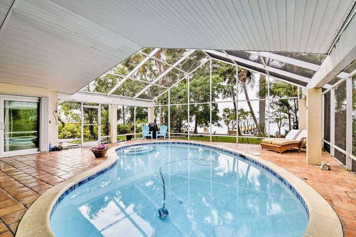 Cape Coral Riverfront Home w/ Direct Beach Access!