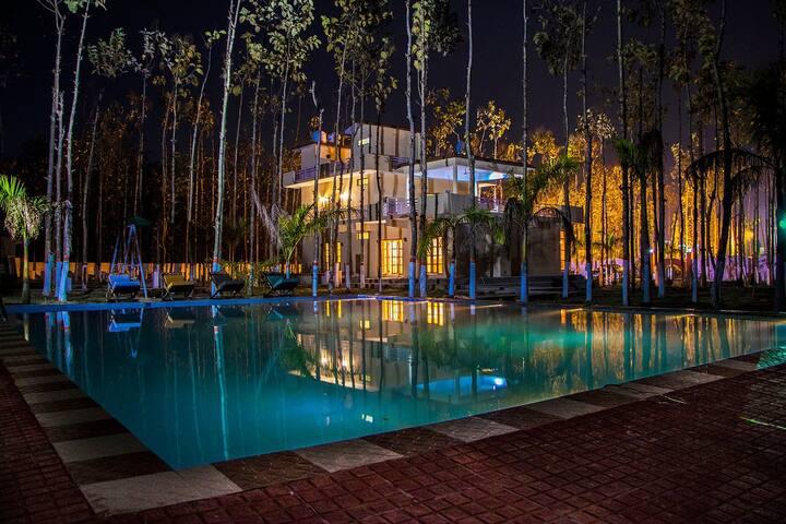 ⭐Private Villa w/ Free Lounge+Pool+BKFST@Dehradun⭐