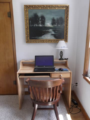 Your desk, with laptop for scale :)