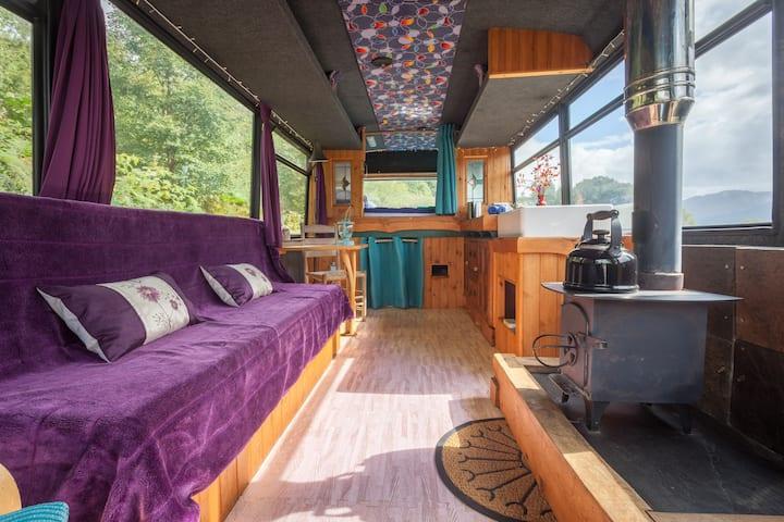 The Magic Bus near Eilean Donan Castle