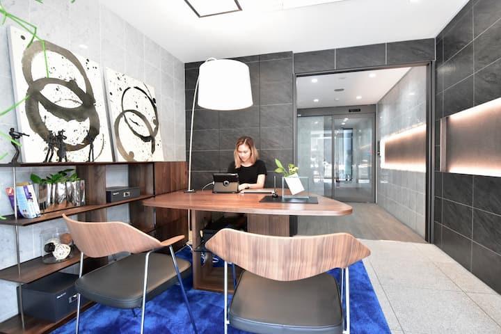 ★银座中心高级公寓★徒步5分到银座商圈★7分钟内三个地铁站口#免费Wi-Fi ,24小时有值班人员!