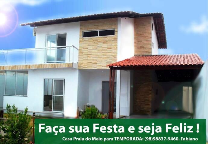 Casa de Temporada Linda na Praia do Meio - Araçagy - São José de Ribamar - Maison