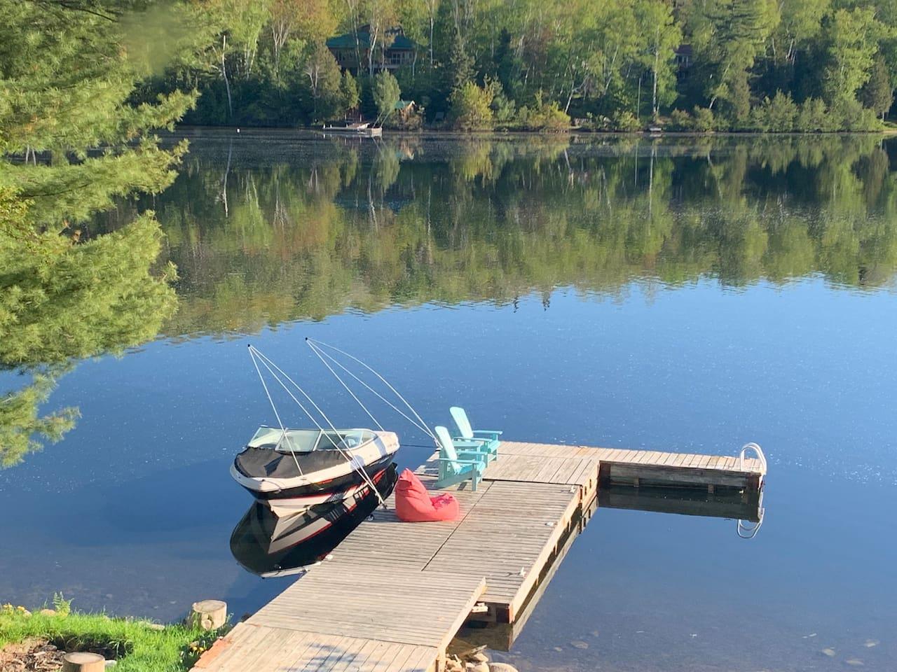 Beautiful dock to soak up the sun
