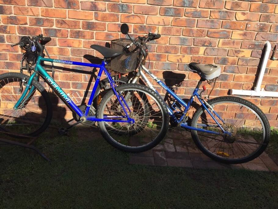Two bikes for your use