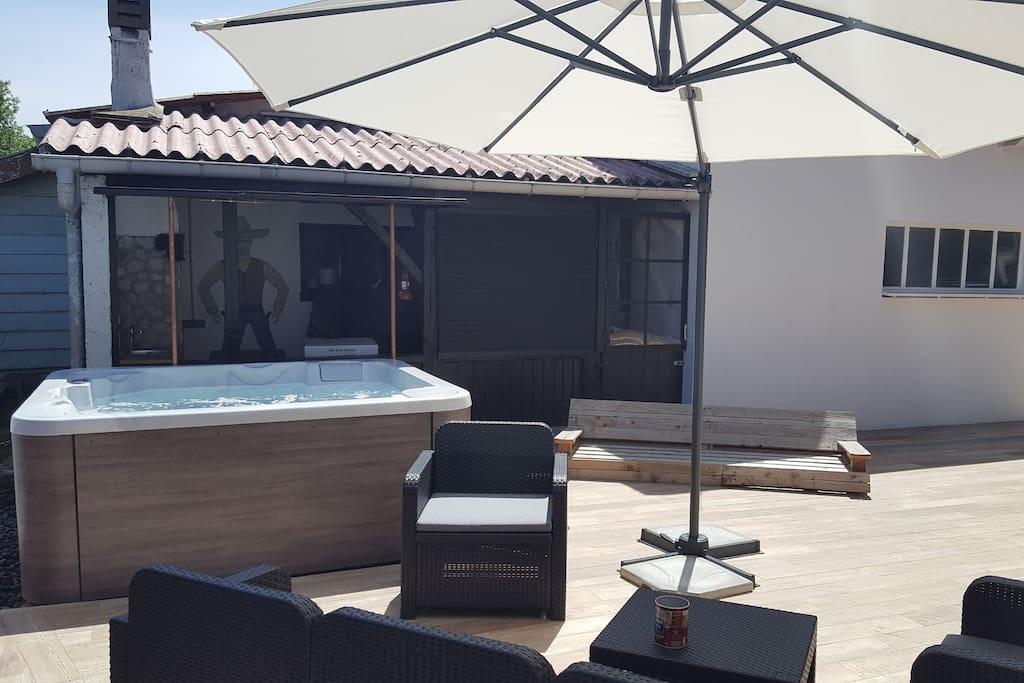 Une terrasse où se prélasser