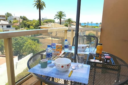 Charmant studio terrasse vue mer ! - Vallauris - Apartment