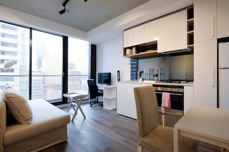 1BR Homey City Apartment + Free WiFi - Appartement