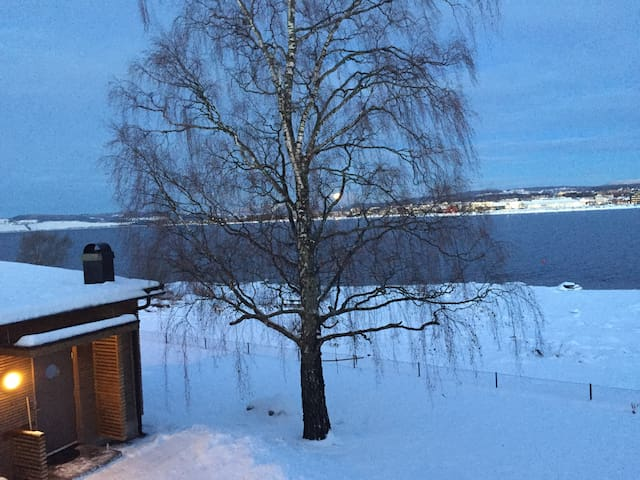 Guest house by lake Mjøsa, 1 hour from Gardermoen