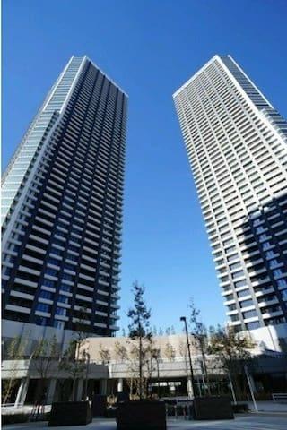 高级公寓独立房间宽敞舒适 健身房桑拿大浴室完备  免费WIFI,观光购物方便 银座,筑地步行可到距离 - Chūō-ku - Appartement