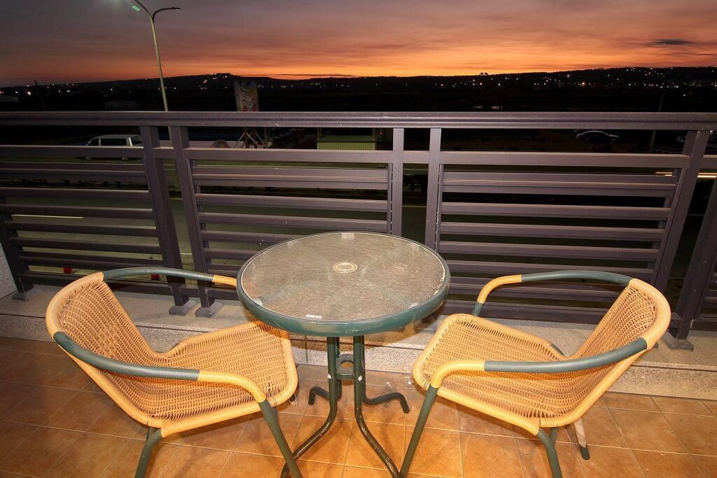 陽台日落景觀