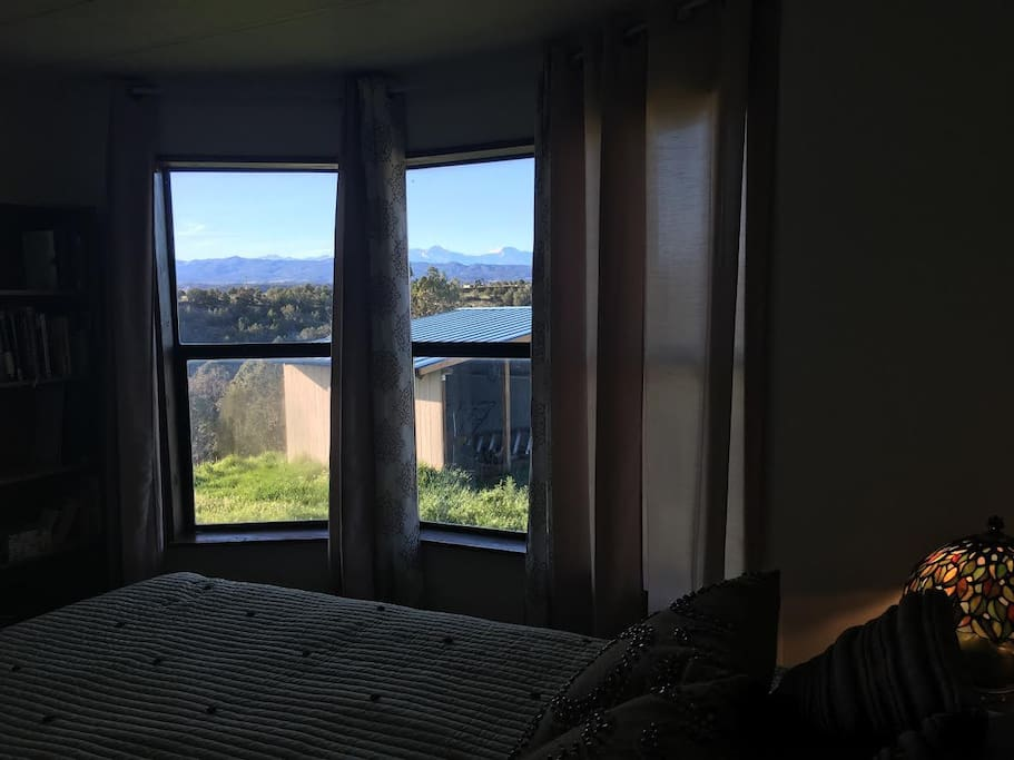 The view from your bed - complete with stars and sunsets!