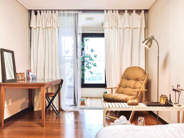 Korean modern vintage Room & Balcony _ Neat n Cozy
