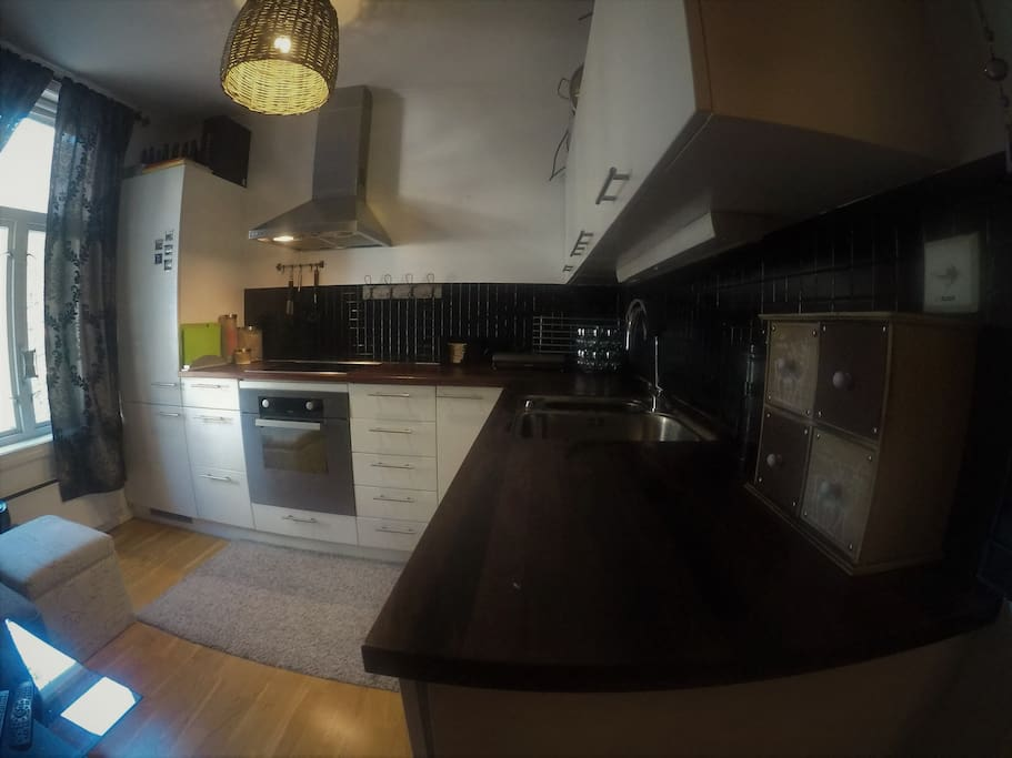Large kitchen with all the essential belongings, even equipped with a food sealer machine. Dishwasher, fridge, freezer...+++