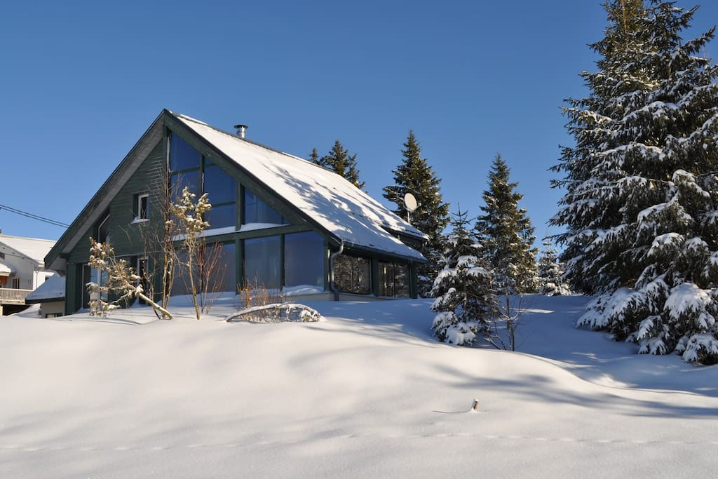 Sous la neige ...