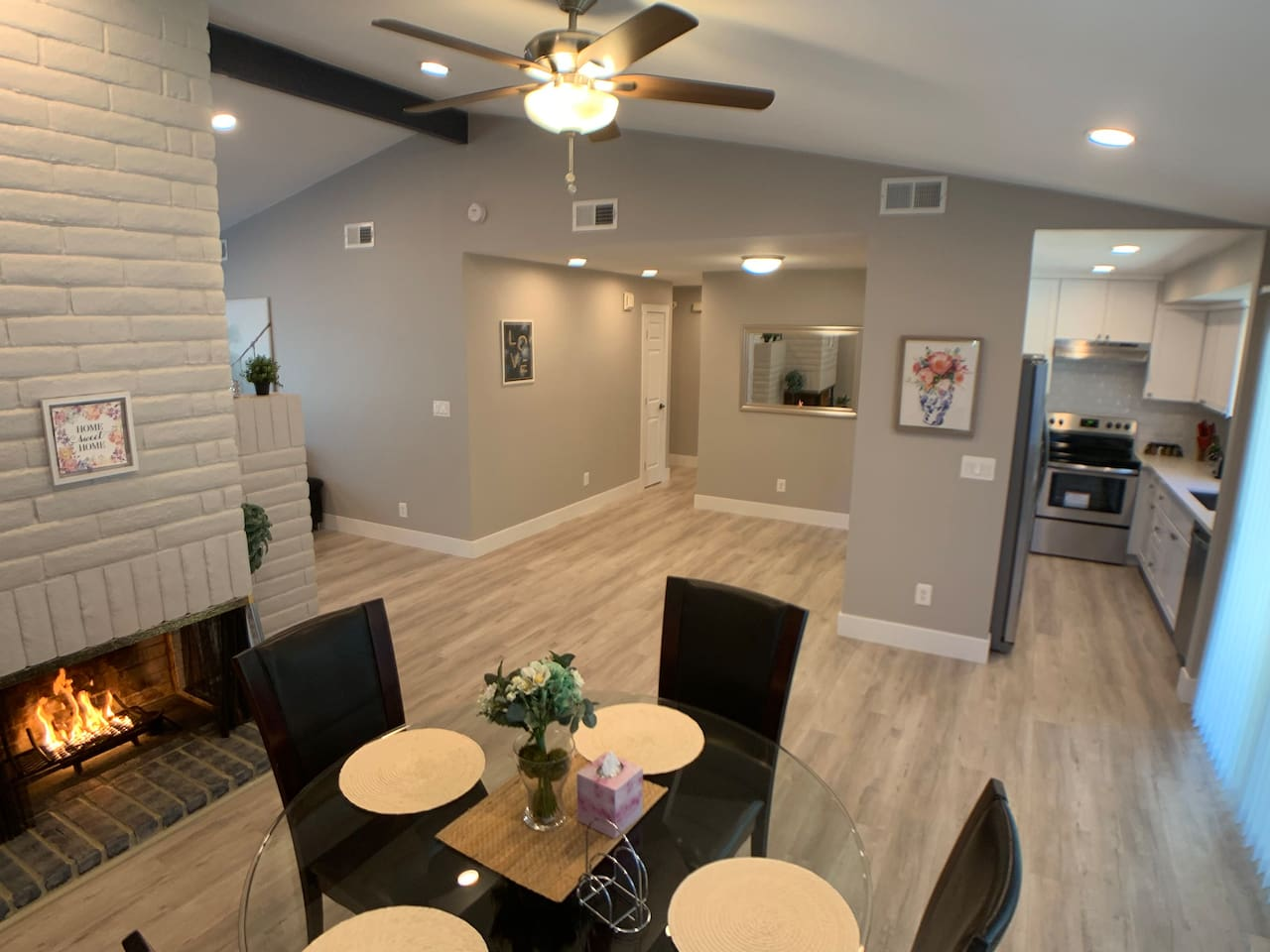 Dining Room  Fireplace  area,