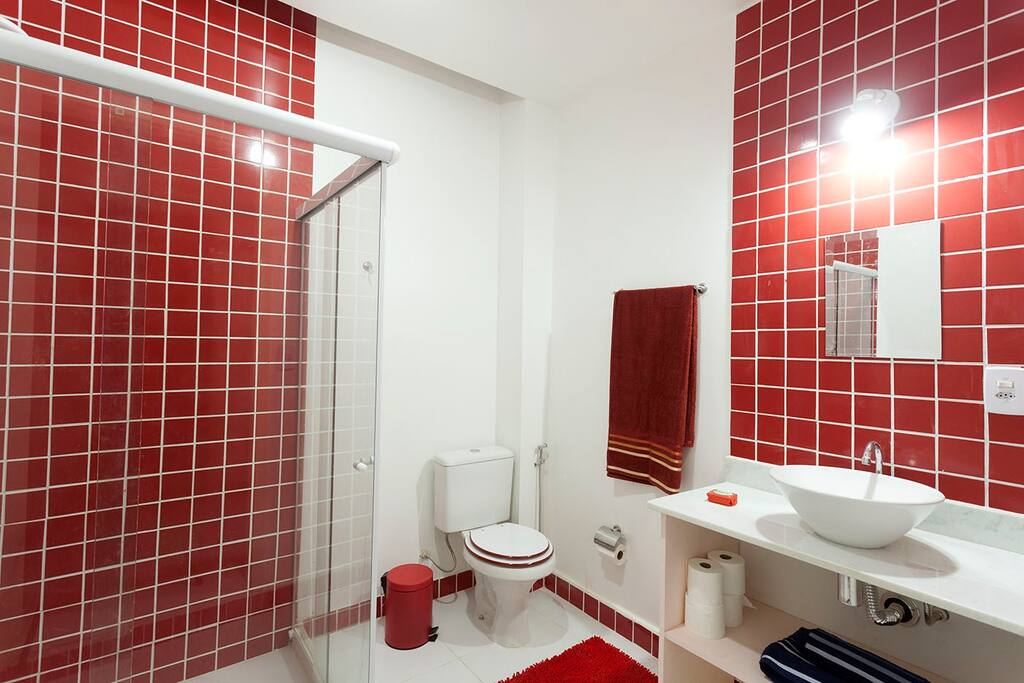 An equipped bathroom