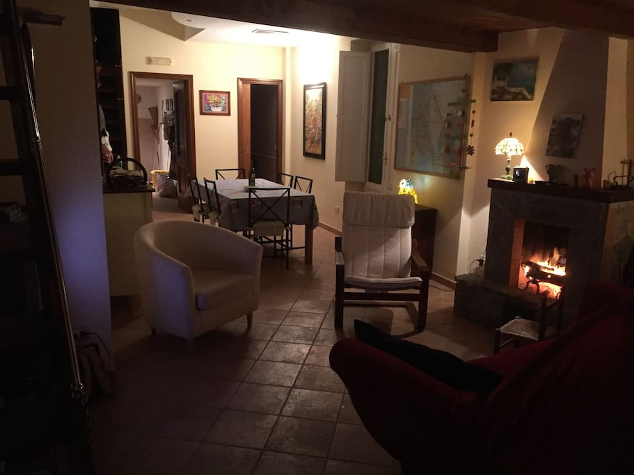 Piera's heart: living room, fire place