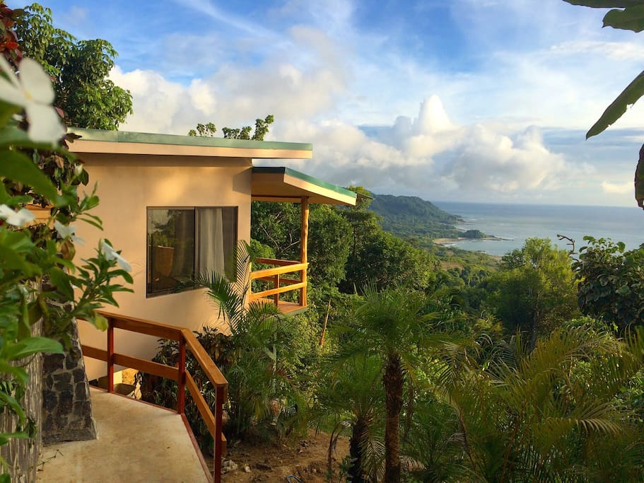 Villa Nuevo the newest addition to the property with the amazing view in the background.