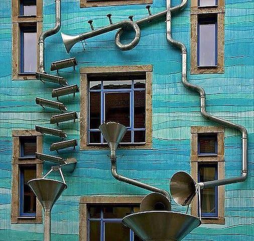 ... Mitten drin ... Statt nur mal da (WiFi) - Dresden - Apartamento