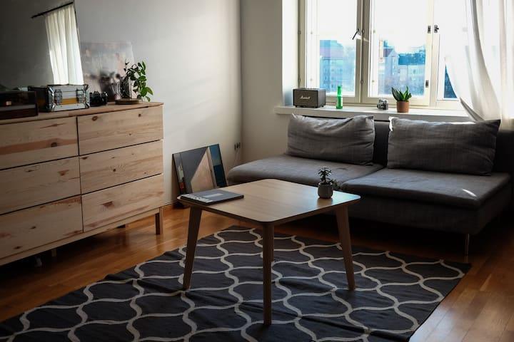 Spacious,  top floor flat in popular Kallio