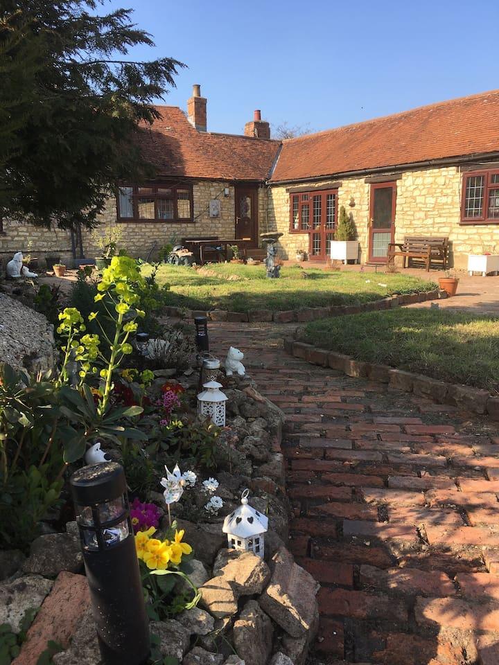The welcoming front garden