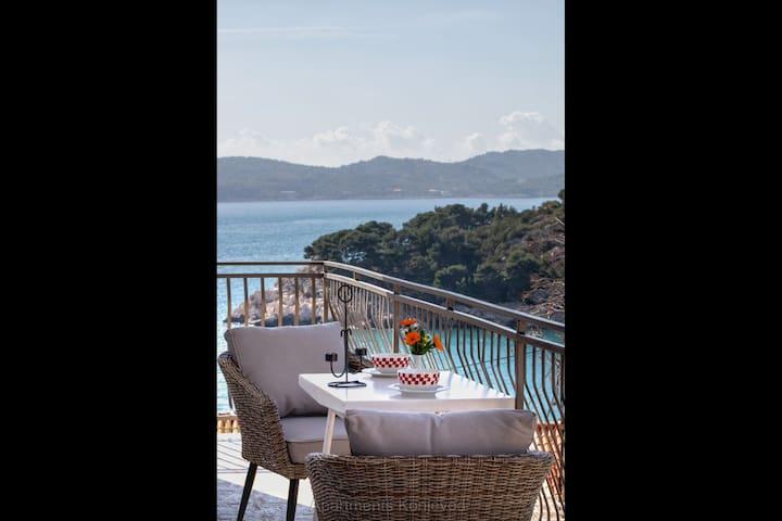 Lovely Seaview Seaside Apartment -Balcony &Terrace
