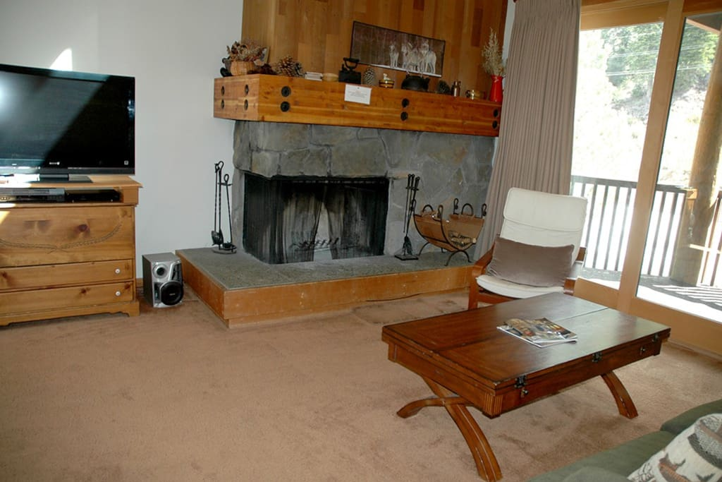 River Run #3 Living Area Fireplace